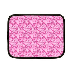 Shocking Pink Camouflage Pattern Netbook Case (small)