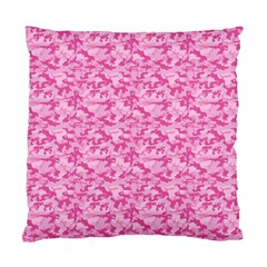 Shocking Pink Camouflage Pattern Standard Cushion Case (one Side)