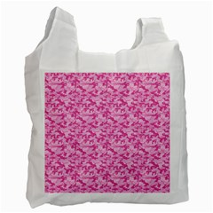 Shocking Pink Camouflage Pattern Recycle Bag (Two Side)