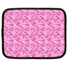 Shocking Pink Camouflage Pattern Netbook Case (XXL)