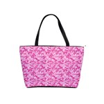 Shocking Pink Camouflage Pattern Shoulder Handbags Front