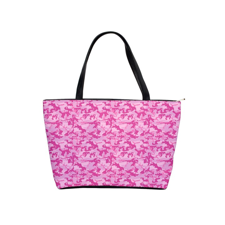 Shocking Pink Camouflage Pattern Shoulder Handbags