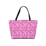 Shocking Pink Camouflage Pattern Shoulder Handbags Back