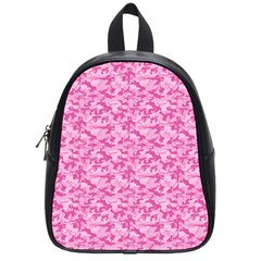 Shocking Pink Camouflage Pattern School Bags (Small)