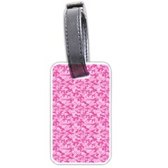 Shocking Pink Camouflage Pattern Luggage Tags (one Side)