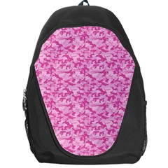 Shocking Pink Camouflage Pattern Backpack Bag