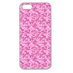 Shocking Pink Camouflage Pattern Apple Seamless iPhone 5 Case (Clear)