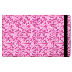 Shocking Pink Camouflage Pattern Apple iPad 2 Flip Case