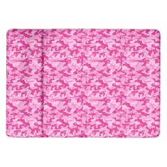 Shocking Pink Camouflage Pattern Samsung Galaxy Tab 10 1  P7500 Flip Case