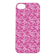 Shocking Pink Camouflage Pattern Apple iPhone 5S/ SE Hardshell Case