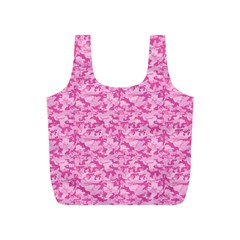 Shocking Pink Camouflage Pattern Full Print Recycle Bags (s)
