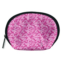 Shocking Pink Camouflage Pattern Accessory Pouches (Medium)