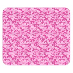 Shocking Pink Camouflage Pattern Double Sided Flano Blanket (Small)