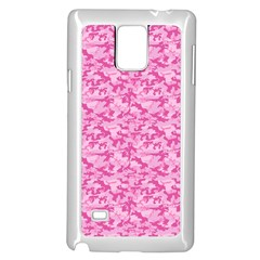Shocking Pink Camouflage Pattern Samsung Galaxy Note 4 Case (white)