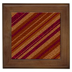 Stripes Course Texture Background Framed Tiles