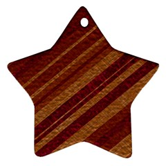 Stripes Course Texture Background Ornament (Star)