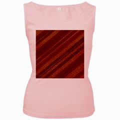 Stripes Course Texture Background Women s Pink Tank Top