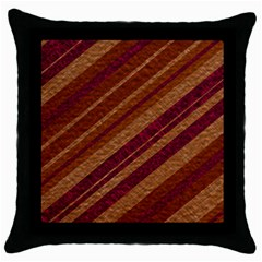 Stripes Course Texture Background Throw Pillow Case (Black)