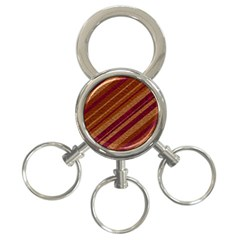 Stripes Course Texture Background 3-Ring Key Chains