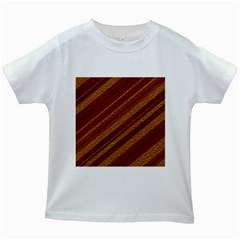 Stripes Course Texture Background Kids White T Shirts