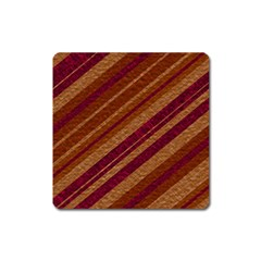 Stripes Course Texture Background Square Magnet