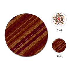 Stripes Course Texture Background Playing Cards (Round)