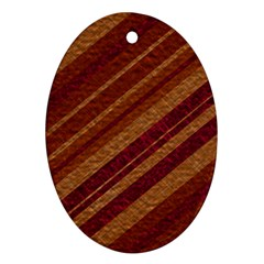 Stripes Course Texture Background Oval Ornament (two Sides)