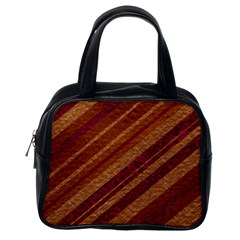 Stripes Course Texture Background Classic Handbags (One Side)