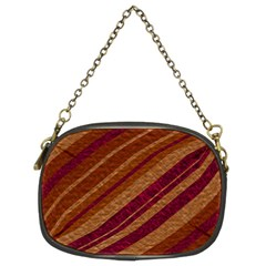 Stripes Course Texture Background Chain Purses (two Sides)
