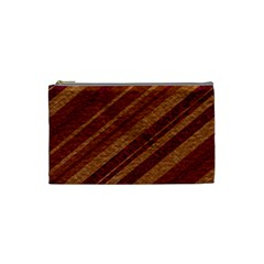 Stripes Course Texture Background Cosmetic Bag (small)