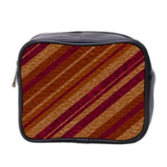 Stripes Course Texture Background Mini Toiletries Bag 2 Side