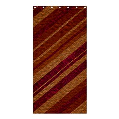 Stripes Course Texture Background Shower Curtain 36  x 72  (Stall)