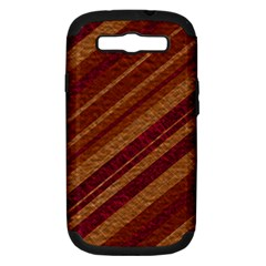 Stripes Course Texture Background Samsung Galaxy S Iii Hardshell Case (pc+silicone)