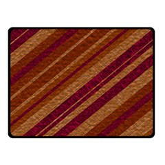 Stripes Course Texture Background Double Sided Fleece Blanket (Small)