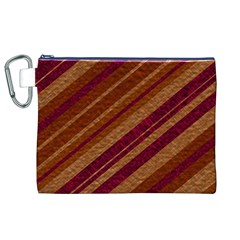 Stripes Course Texture Background Canvas Cosmetic Bag (XL)