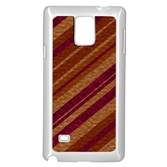 Stripes Course Texture Background Samsung Galaxy Note 4 Case (White)