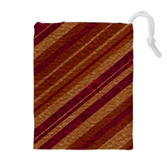 Stripes Course Texture Background Drawstring Pouches (Extra Large)