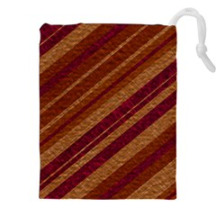 Stripes Course Texture Background Drawstring Pouches (XXL)