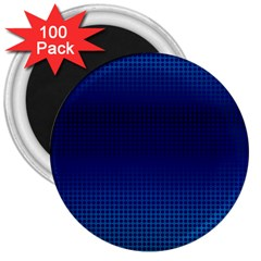 Blue Dot 3  Magnets (100 Pack)