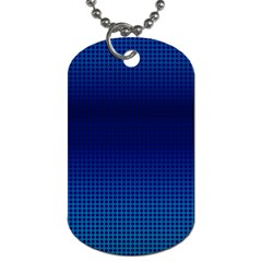 Blue Dot Dog Tag (Two Sides)