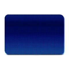 Blue Dot Plate Mats