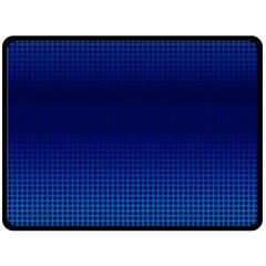 Blue Dot Double Sided Fleece Blanket (Large)