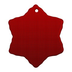 Redc Snowflake Ornament (Two Sides)