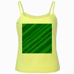 Stripes Course Texture Background Yellow Spaghetti Tank