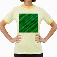 Stripes Course Texture Background Women s Fitted Ringer T Shirts