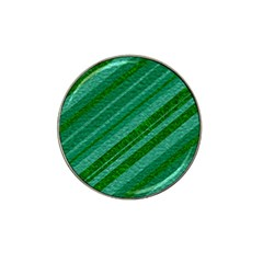 Stripes Course Texture Background Hat Clip Ball Marker (4 Pack)
