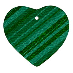Stripes Course Texture Background Heart Ornament (Two Sides)