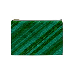 Stripes Course Texture Background Cosmetic Bag (Medium)