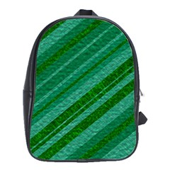 Stripes Course Texture Background School Bags(large)