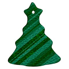 Stripes Course Texture Background Christmas Tree Ornament (Two Sides)